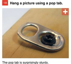 Trick for hanging pictures