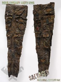 Post Apocalyptic costume - aged trousers. SALVAGED Ware enquiries always welcome @ www.markcordory.com