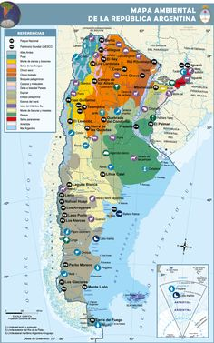 Mapa de Argentina Central America, South America, Visit Argentina, Argentina Food, Communities Unit, Argentina Culture, Spanish Teaching Resources, Spanish Culture, Country Maps