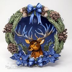 I am having a great deal of fun making my cards this year . I didn't buy this stag die.instead I decided to buy 6 of the die cuts . Clematis Flower, Tattered Lace Cards, Craftwork Cards, Craft Stash, Create And Craft, Get Well Cards, Heartfelt Creations, Pretty Cards, Color Card