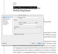 Using InDesign's Text Variables to automatically populate the running heads in your book.