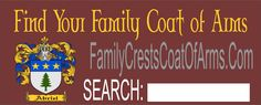 Find your coat of arms / family crest and order a downloadable jpg file