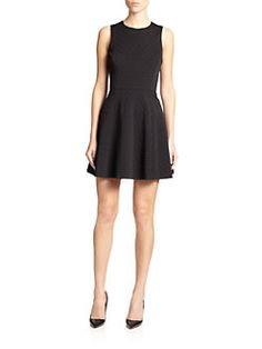 Theory - Tillora Textured Fit-&-Flare Dress