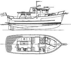 Coastal Passage 30 - Power Cruiser/Trawler - Boat Plans - Boat Designs
