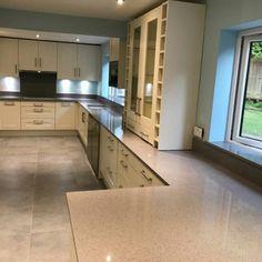 Grigio Medio Stella - Wokingham, Berkshire - Rock and Co Granite Ltd Shaker Style Kitchens, Stella, Off White Color, Granite, Kitchen Cabinets, Home Decor, Decoration Home, Room Decor, Kitchen Cupboards