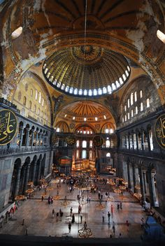 Hagia Sofia. Istanbul, Turkey. Amazing building - once Christian, then Islamic, but now the Christian heritage is being rediscovered
