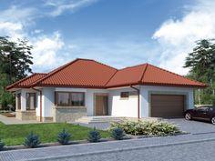 Wizualizacja DA Keos 2 CE Modern House Design, House Plans, Pergola, Garage Doors, Home And Garden, Outdoor Decor, Home Decor, Projects, Decoration Home