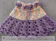 Free Form Stitching: Free Pattern - Crochet Ra Ra Skirt - 1 to 3 years old