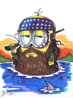 A Duck Dynasty Minion Commission done for a Christmas present this year (2013).