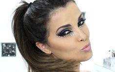 Maquiagem Carnaval | Glitter | Maquiagem azul | Maquiagem Noite e Dia | Por Juliana Balduino