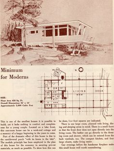 Minimum for Moderns: 1950 Your New Home | Flickr - Photo Sharing! Studio, 1 Bath