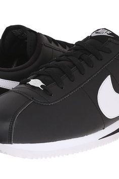 Nike Cortez Leather (Black/Metallic Silver/White) Men's  Shoes - Nike, Cortez Leather, 819719-012, Footwear Athletic Casual, Casual, Athletic, Footwear, Shoes, Gift, - Street Fashion And Style Ideas