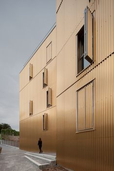 Image 1 of 54 from gallery of Social Housing in Nice / Comte & Vollenweider. Photograph by Milèle Servelle Detail Architecture, Beautiful Architecture, Social Housing Architecture, Metal Cladding, Corrugated Metal, Metal Buildings, Facade Design, My House, Ramen