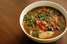 Artichoke, Chickpea, and Spinach Soup