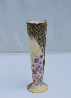 Decorative glass vase with handmade design. There has been mixed media used. Only one item is made. Diameter of the top is 7 cm; Height is 25 cm. The artwork comes with a certificate of authenticity. Decorative Objects, Decorative Glass, Sea Flowers, Mixed Media Painting, Handmade Design, Painting & Drawing, Framed Art, Glass Vase, Art Gallery
