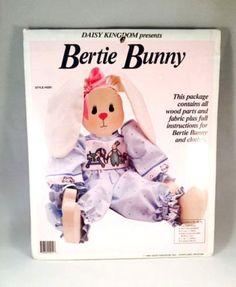Daisy Kingdom Bertie Bunny Rabbit Wood Working Kit Includes Wood and Fabric NIP by UrbanVintageChic on Etsy
