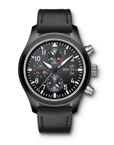 IWC Top Gun As Justin Theroux shows us in our October issue's Serpico story, this lux IWC watch is bold, black, and pretty badass The high tech black ceramic case is durable and paired with an equally tough nylon strap that's a no-brainer for Fall (FYI: today is the first official day in case you haven't heard.) Stylish and made to last, it's the kinda Pacino would approve of. $11,900, available atiwc.com