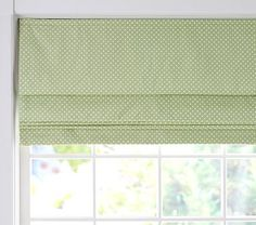 Mini Dot Cordless Roman Shade with Blackout Lining #PotteryBarnKids