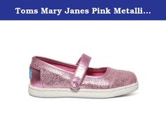 40021a1ddbb Toms Mary Janes Pink Metallic Foil 10009103 Tiny 7. Toms Mary Janes Pink Metallic  Foil 10009103 Tiny 7.