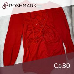 Shop Women's bebe Red size S Sweaters at a discounted price at Poshmark. Plus Fashion, Fashion Tips, Fashion Trends, Sweaters For Women, Leather Jacket, Suits, Jackets, Closet, Bebe