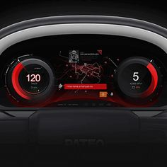 Dashboard Interface, Dashboard Design, User Interface Design, Ui Ux Design, Digital Dashboard, Car Ui, Car Interior Design, Sports App, Interactive Design