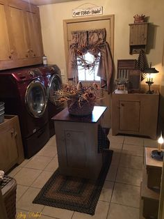 Primitive laundry room... Love it!