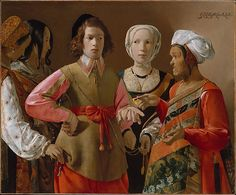 Georges de La Tour (French, 1593–1653). The Fortune Teller, probably 1630s. The Metropolitan Museum of Art, New York. Rogers Fund, 1960 (60.30)  |  La Tour's painting can be interpreted as a genre or theatrical scene, or as an allusion to the parable of the prodigal son. #halloween #costume