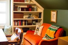 I love this small office! Before & After: Pete's Office