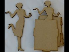 ▶ Chipboard house,doll albums Bicycle layer shadow box - YouTube
