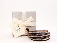 swarovski Brown multi strand bracelet, swarovski brown wrap bracelet, swarovski wrap bracelet Strand Bracelet, Jewelry Bracelets, Swarovski, Place Card Holders, Brown, Unique Jewelry, Handmade Gifts, Etsy, Kid Craft Gifts