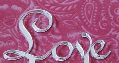 Silver Love Cake Topper by MilanCreations on Etsy,