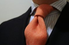 Zo-cashmere tie in orange, could this me any more you?