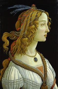 """Simonetta Vespucci (1453-1476), """"la bella Simonetta"""", was the most beautiful woman in Florence, Italy in her day. She was so beautiful that men were still painting her more than 20 year…"""