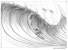 """Surfer from """"How to Draw a Wave"""" tutorial by Bob Penuelas"""