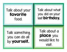 Oral Language Cards