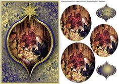 Adoration of the Shepherds Pyramid Card Front