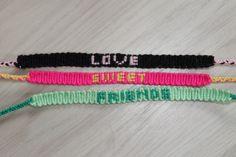 handgemaakte armbandjes met je eigen naam! wie wil dat nou niet
