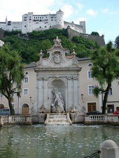 Fountain in Kapitelplatz, Salzburg, Austria