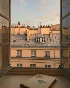 Romantic view from a Paris apartment. Cream Aesthetic, Brown Aesthetic, Summer Aesthetic, Aesthetic Photo, Aesthetic Pictures, Aesthetic Coffee, Aesthetic Collage, Picture Wall, Photo Wall