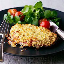 Hähnchenschnitzel mit Käse und Chili