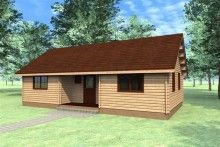 Katryn Log Cabin 11m x 6m - 44mm wall logs, Double Glazed, 5 Room Mutli Room Log Cabin.  Great for educational purposes