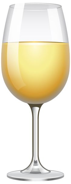 White Wine Glass Transparent PNG Clip Art Image