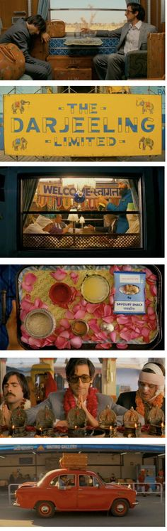 The Darjeeling Limited | Wes Anderson If it's these three guys, it must be Wes Anderson's. Loved the bold visuals (the Wes Anderson trademark) and the overall (quirky) production.