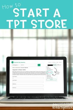 How to Start a TpT Store