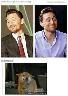 How can he make that face and still be absolutely perfect? CAUSE HE'S TOM HIDDLESTON THAT'S WHY.