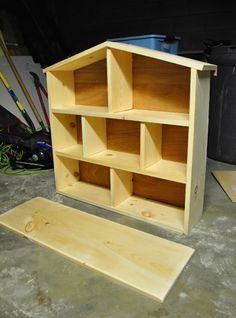 DIY wood dollhouse