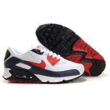official photos 344a5 56f65 Femme Nike Air Max 90 Blanc Bleu Rouge