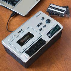 The Portable Cassette To MP3 Converter. - Hammacher Schlemmer