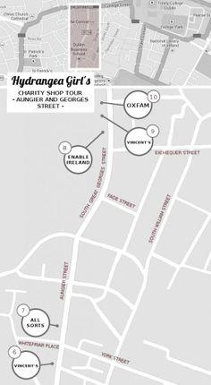 Hydrangea Girl - Dublin charity shop tour! Aungier Street and George's Street, Dublin city centre.