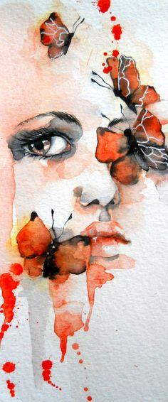 """""""Butterflies"""" art print by Jenny Viljaniemi"""
